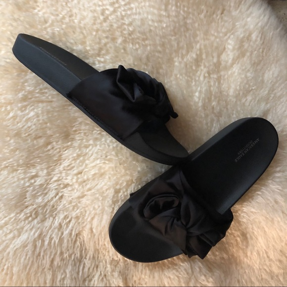 56e65d821 American Eagle Outfitters Shoes | Aeo Knotted Bow Pool Slide | Poshmark